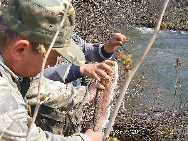 весенняя рыбалка на ленка и хариуса