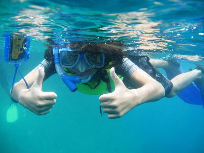 Как называется плавание с трубкой и маской