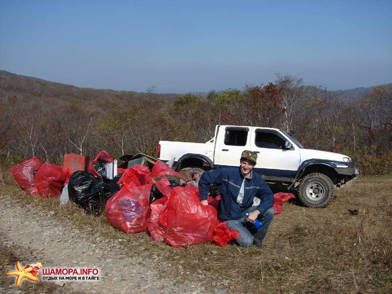 Собрали 55 мешков с мусором. | Субботник на форте №3 Владивостокской крепости