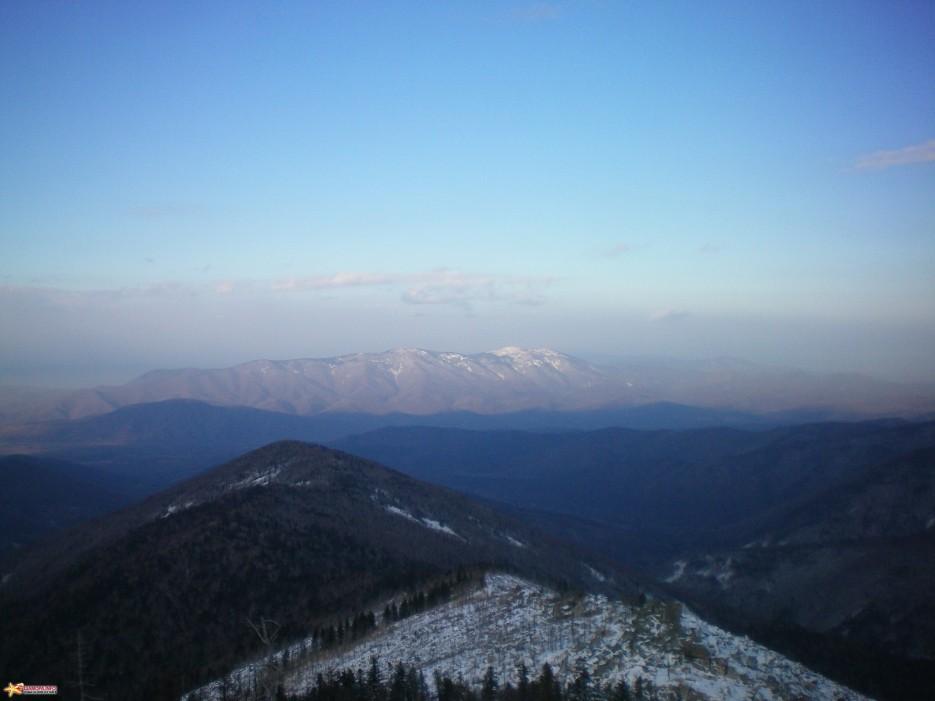 Вид на хребет Большой Воробей | Пидан ноябрь 2008