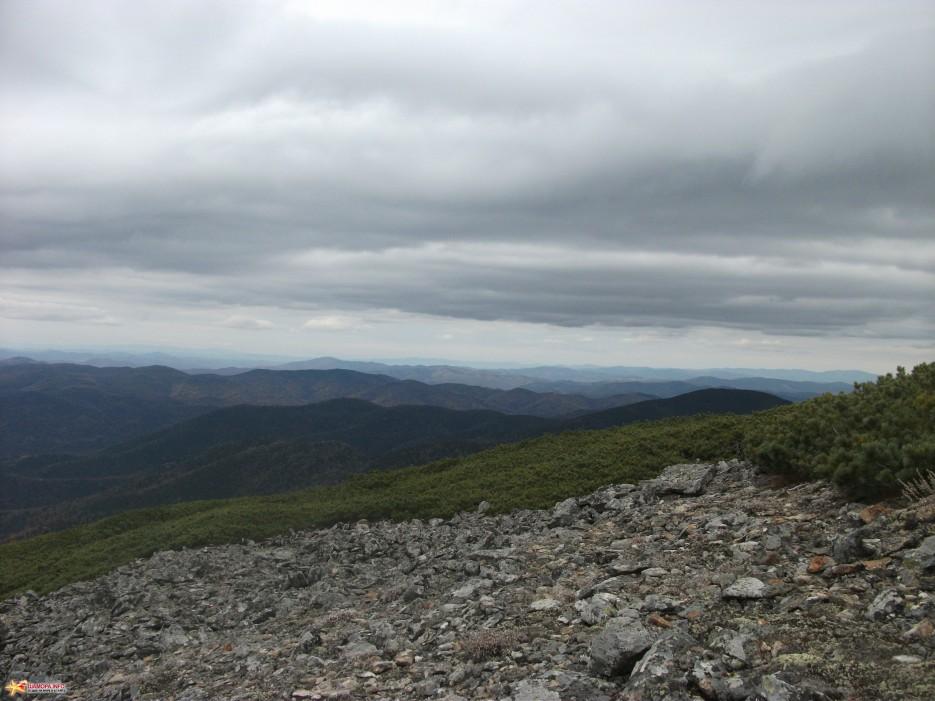 Вид с хребта на север. | Облачная 09-10.10.10