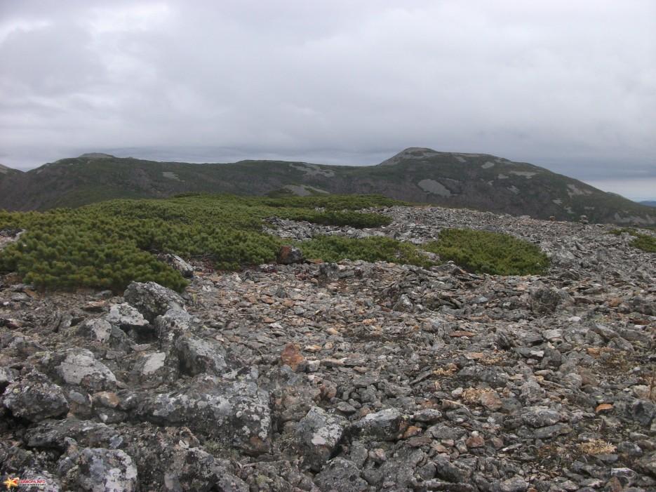 Плато на южном хребте На это плато поднимаются от Гнилого ключа и очень часто ночуют. | Облачная 09-10.10.10