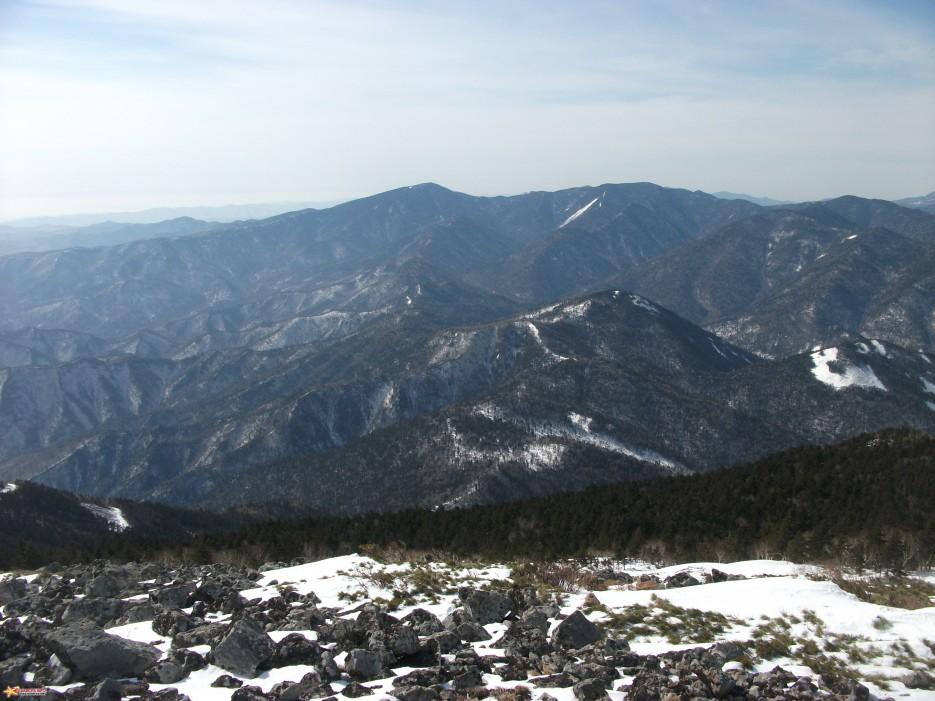 Партизанский хребет между горой Белой и горой Синей | Зима на Партизанском хребте