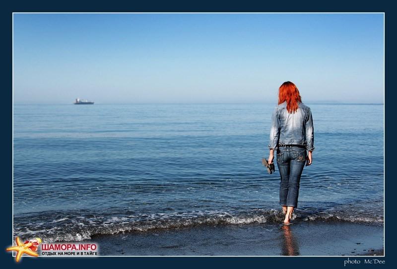Море, пароход, девушка | б/о Тунгус