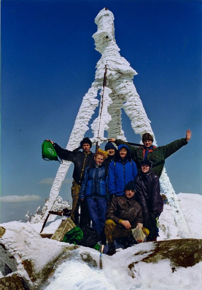 Группа на горе Пидан. Зима. Шкотовский район. | Гора Пидан Ливадийского хребта. Шкотовский район.