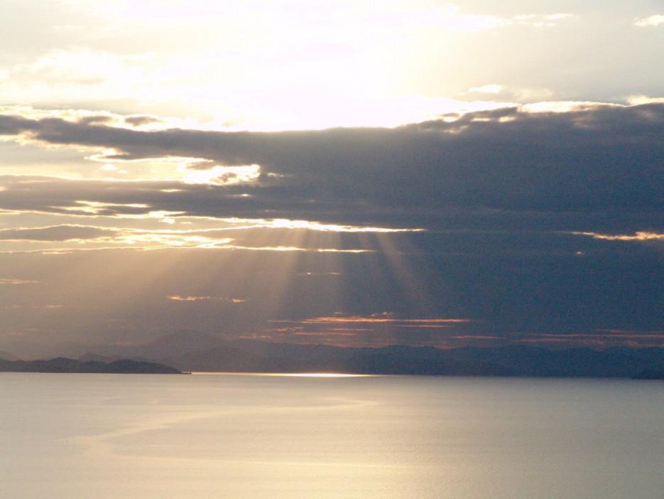 Закат. вид на южную часть Приморья. Остров Рикорда. | Рассветы и закаты. Остров Рикорда.