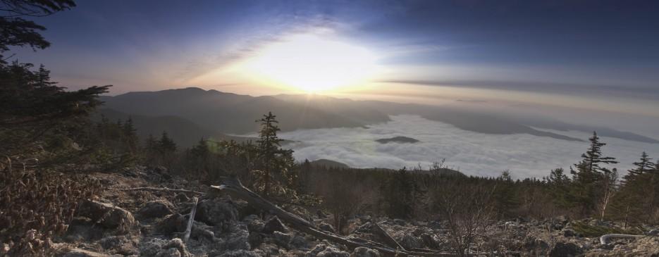 Восход в горах.  Панорама с горы Ольховая. Партизанский район. | От Хасана до...