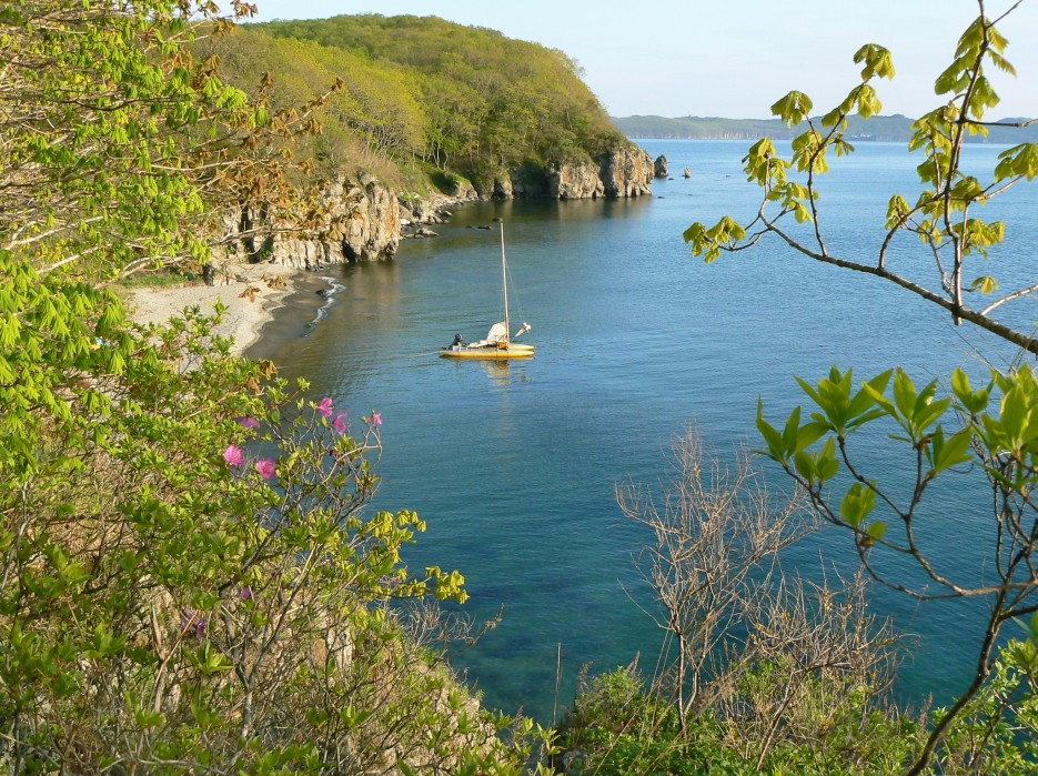 Уютная бухточка на острове Герасимова. | ...А остальное - острова...  Хасанский район (альбом1)