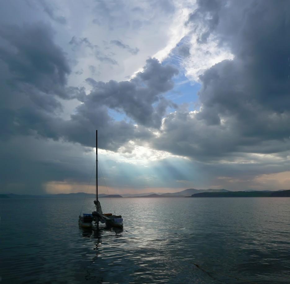 Тихий вечер.  Славянский Залив.   ...А остальное - острова...  Хасанский район (альбом1)