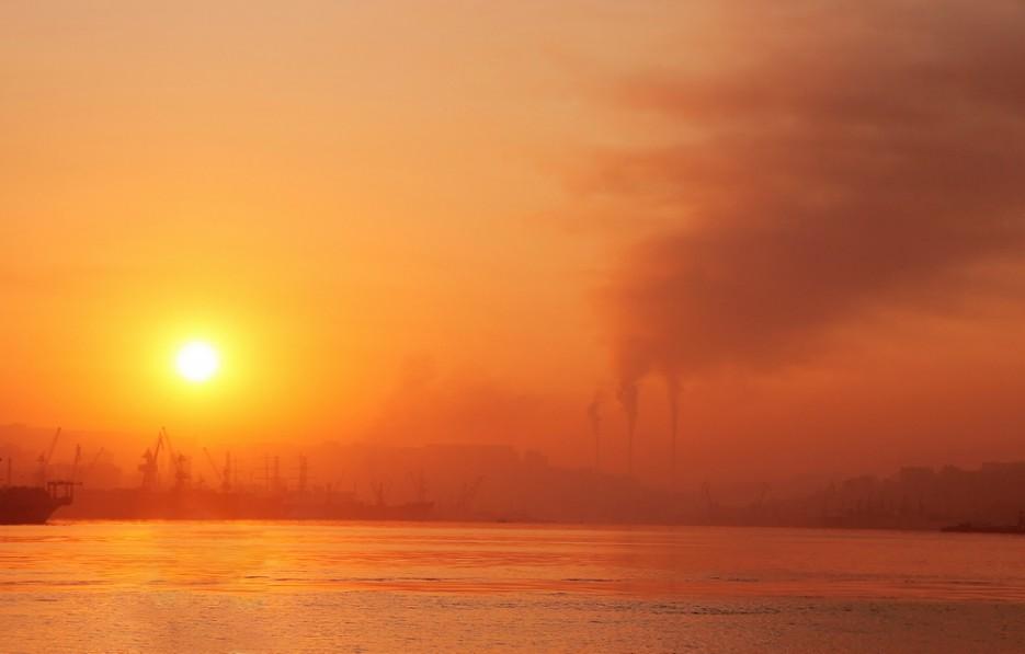Восход над бухтой Золотой Рог. | Владивосток моими глазами