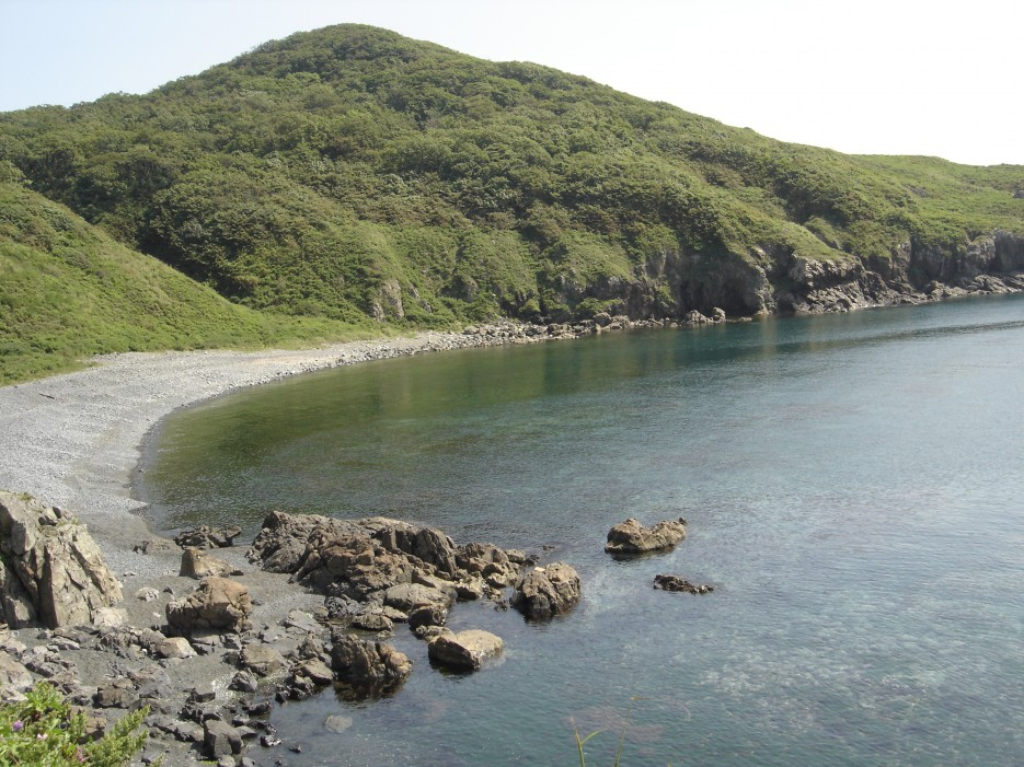 о. Рикорда, галечный пляж | о.Рикорда