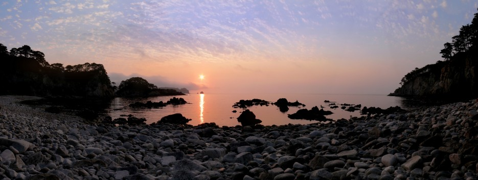 Восход на бухте Теляковского | Панорамы полуострова Гамов