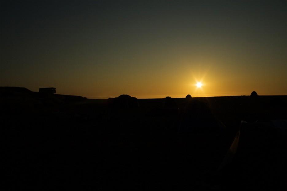 Восход на берегу Тихого океана.   Сияние северного Приморья