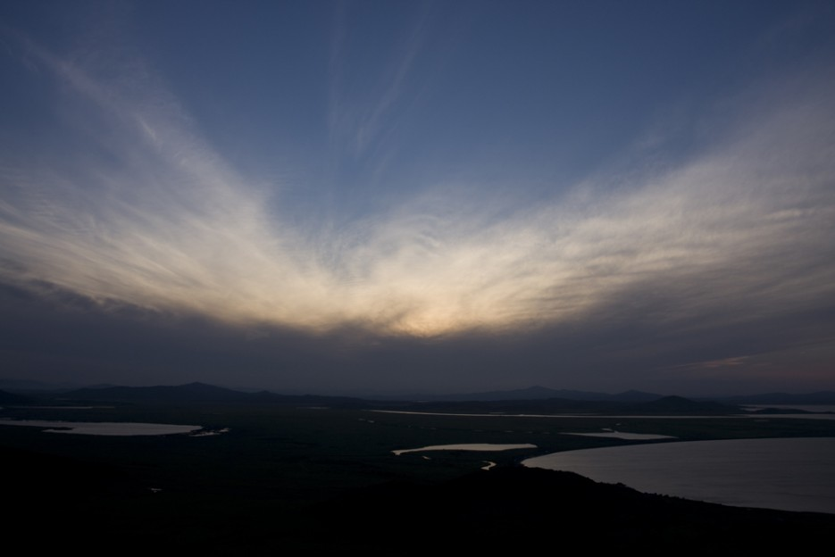 Закат на Хасане. | Вид с вершины