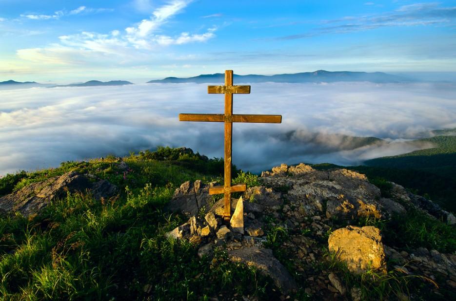 Храни вас, небеса! Вершина сопки Туманная. | Хребет Большой Воробей, г.Туманная