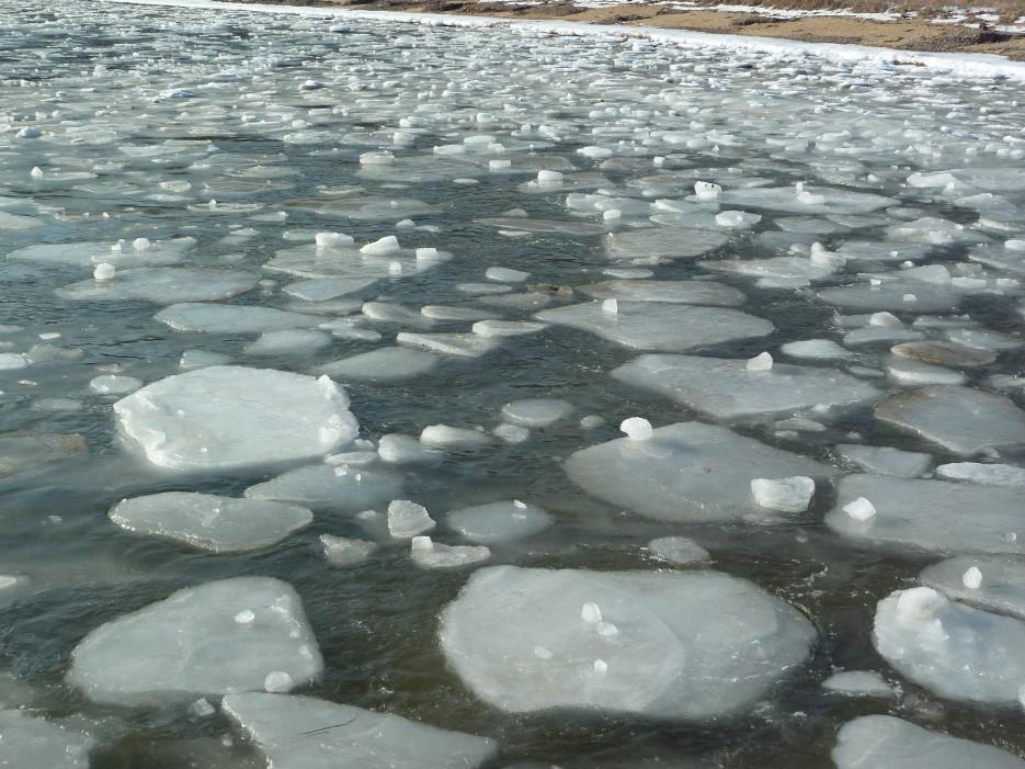 Бухточки правее Шаморы. Красивая ледяная шуга   Океанский военный санаторий