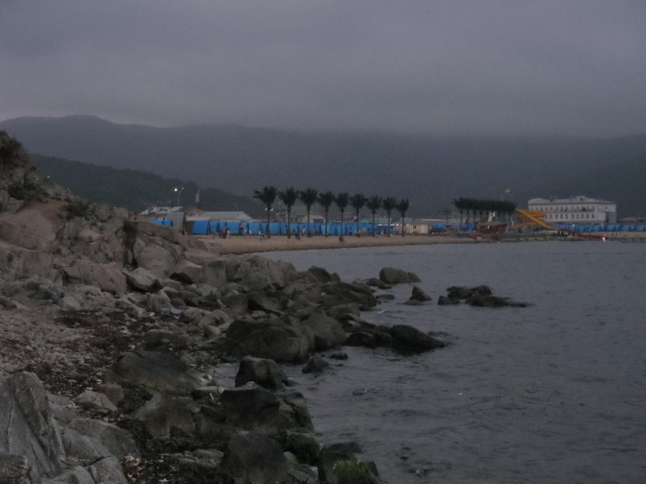 """Пляж, турбаза """"Океан"""" в Андреевке. Хасанский район.   Андреевка, Витязь, п-ов Гамова."""