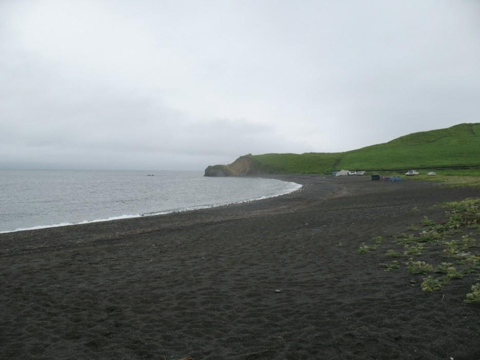 черный песок   Зарубино