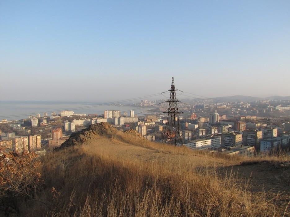 "вид на 2 речку с ""Орлиного гнезда""   Владивосток"