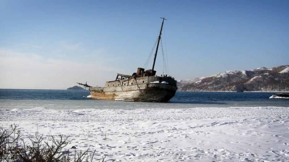 Останки судна | Полуостров Гамов и бухта Витязь