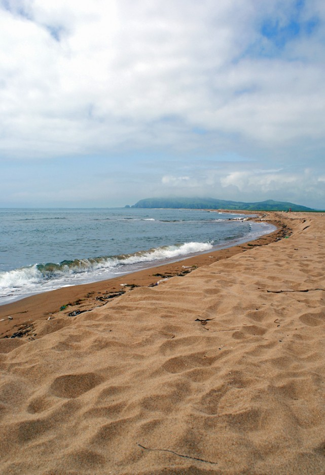 Пляж. | Мыс Островок Фальшивый и остров Фуругельма