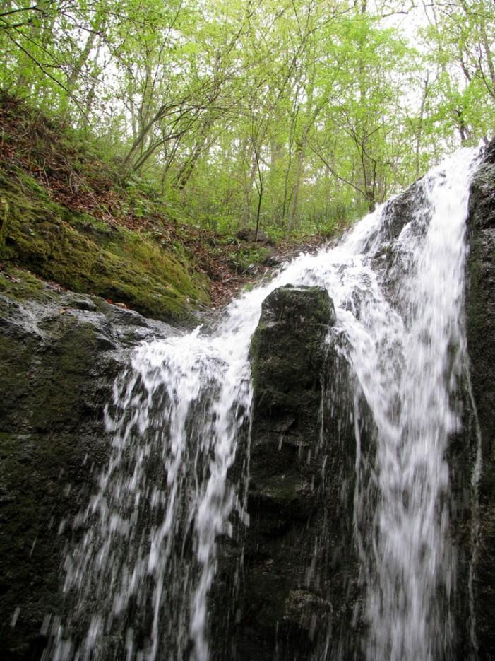 Зуб, разделяющий потоки. | Кравцовские Водопады