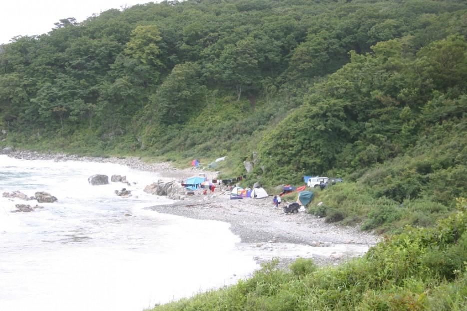 стоянки туристов | тайфун в бухте Теляковского