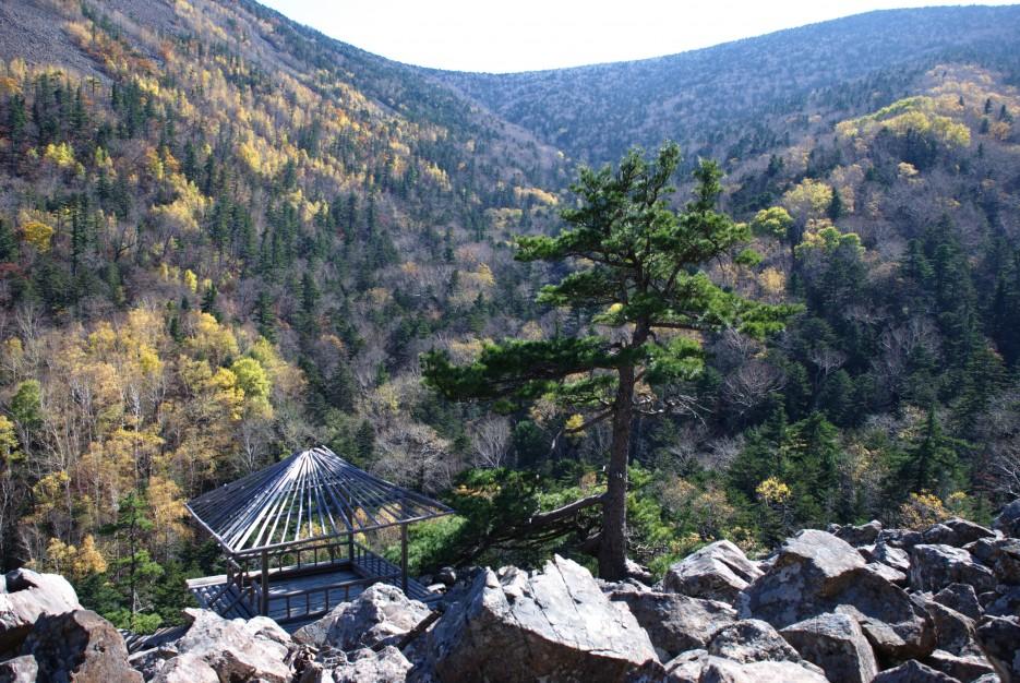 Вид с верху на Беседку   Ключ Смольный, гора Фалаза.