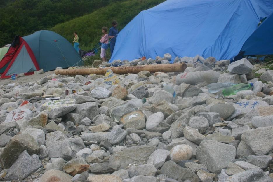 знаки на камнях | бухта Теляковского, Хасанский район