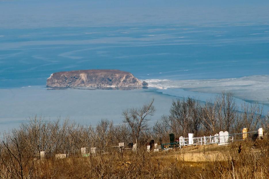Ковришка (остров Скребцова, Амурский залив). Вид с форта № 6. | Природа Приморского края. Разное.