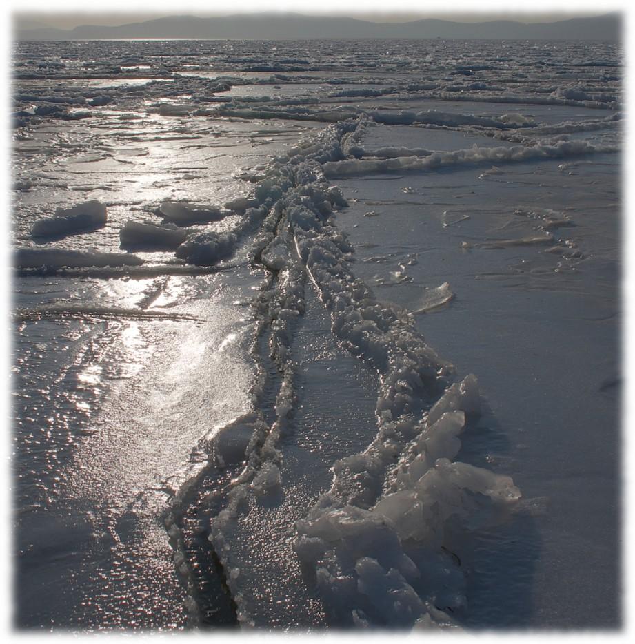 Лед (пляж г.Фокино) | Приморье