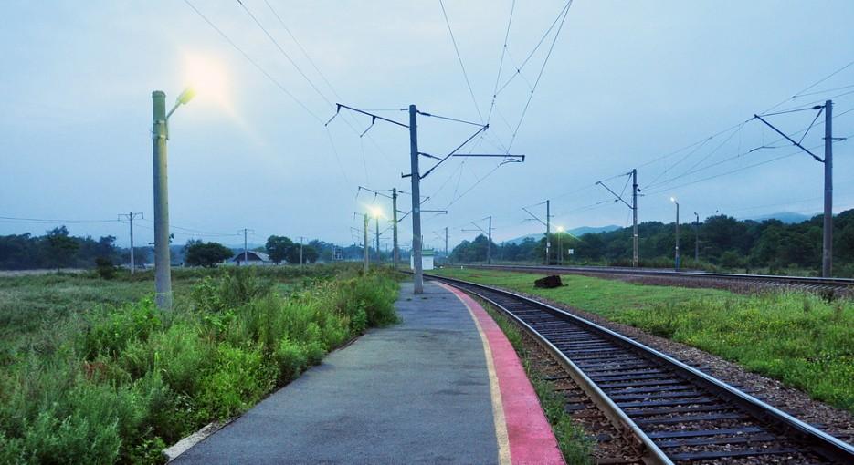 Станция 74 км. Именно с неё большинство начинает свой путь на Пидан через село Лукьяновка. | Туманный Пидан (Лето). По левой тропе.