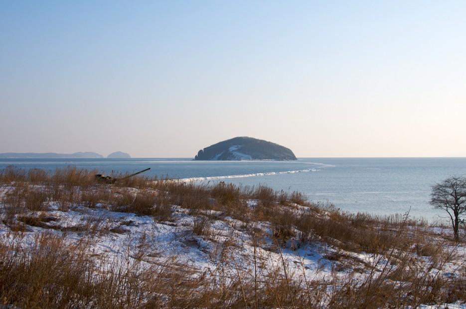 Остров Клерка. Зарытый танк | Полуостров Клерка.