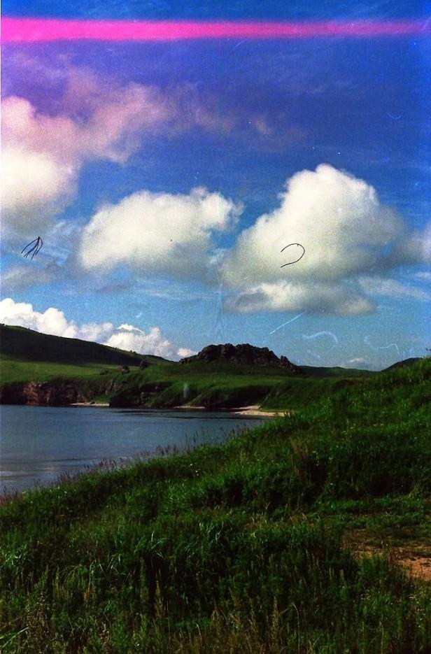 вид на Краббе из бухты Маета | полуостров Краббе. Прошлое тысячелетие.