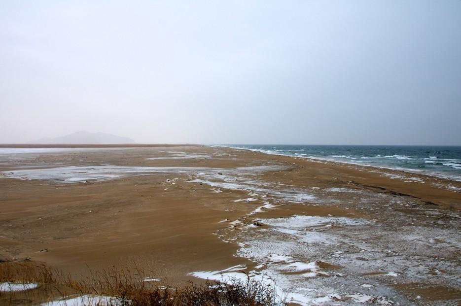 Зимний пляж | Хасанские болота зимой