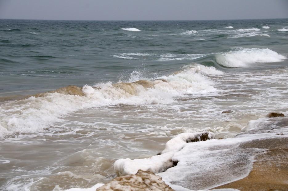 Штормовое море | Хасанские болота зимой