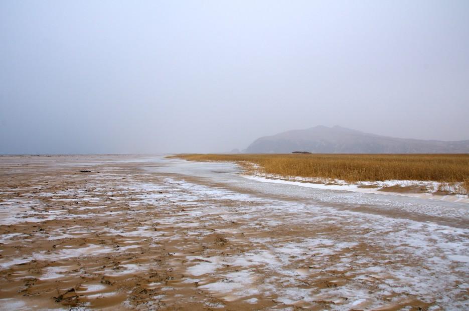 Зимний пляж, Утёс Голубиный | Хасанские болота зимой