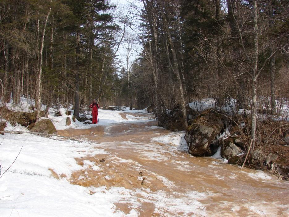 06.По замерзшему ручью вниз. | 1.04.2012 года. Водопад Тигровый. Шкотовское плато.
