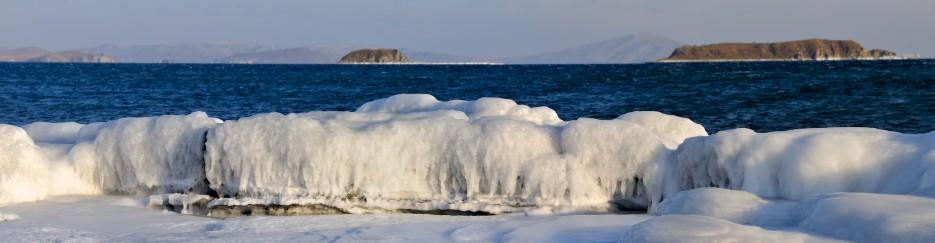 Ледовый припай и вид на острова Большой и Малый гакель | Панорамы Хасана.
