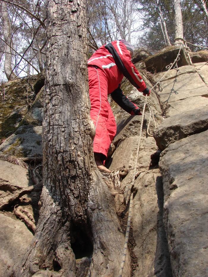 09.Спуск к водопаду. | 1.04.2012 года. Водопад Горбатов. Шкотовское плато.