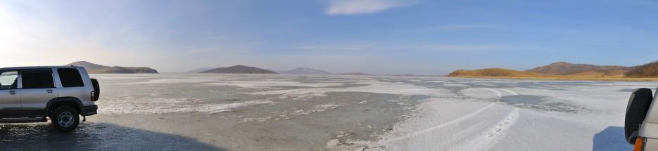 Озеро Птичье (Тальми). Панорама со стороны соленых копей | Панорамы Хасана.