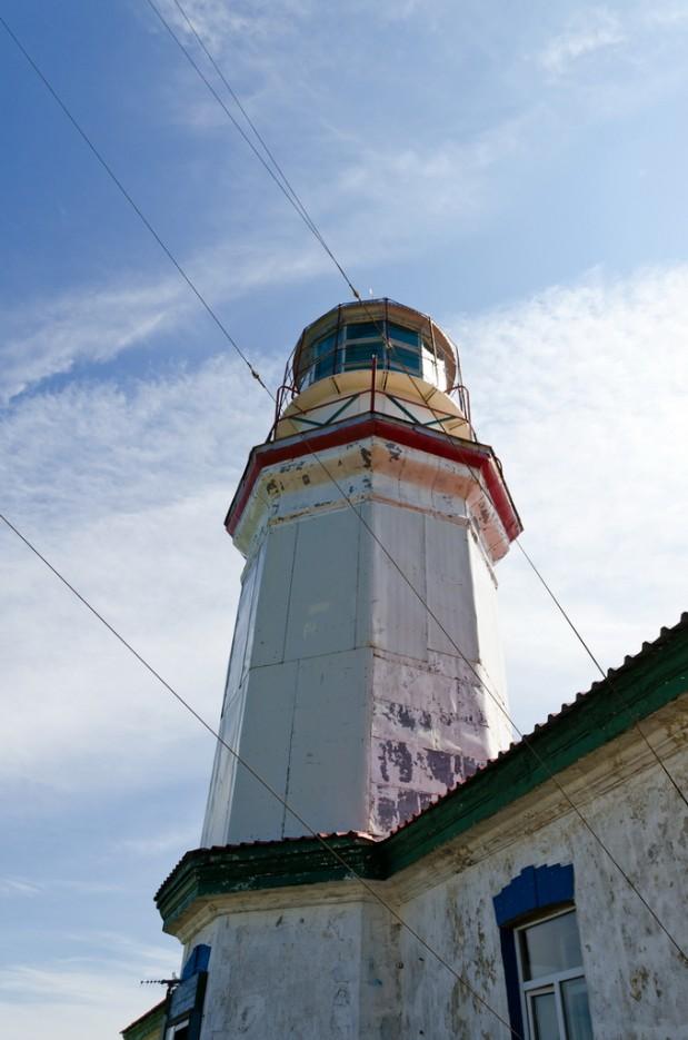 Башня маяка. | Мыс Гамова и батарея № 220. Полуостров Гамова. Южное Приморье.