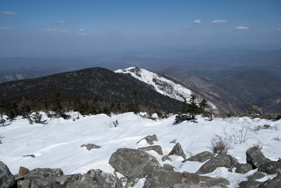 Расплывающийся горизонт | Гора Ливадийская (Пидан) 2012.04.07 Часть 2.