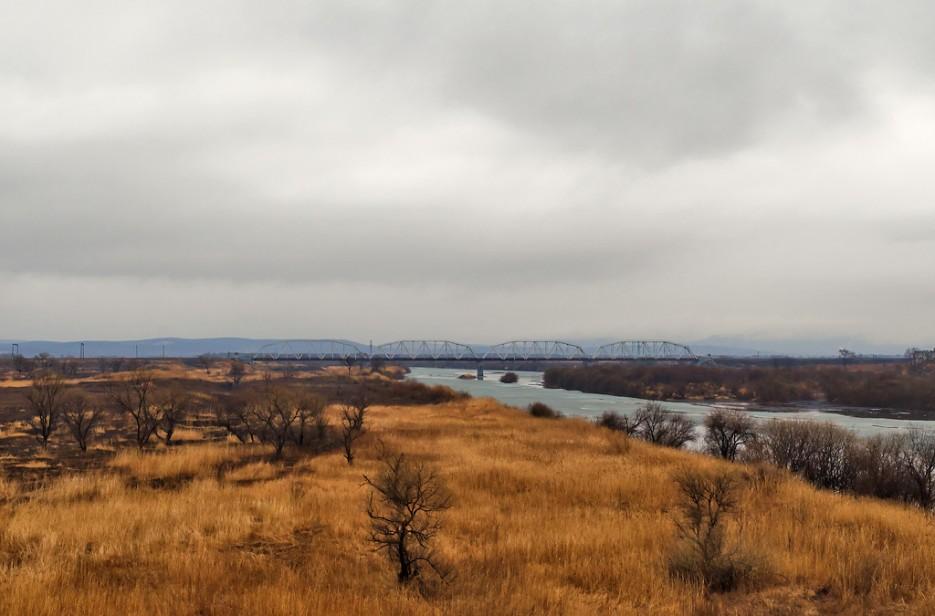 Железнодорожный мост через реку Раздольная, ветка на Хасан. | Барановский вулкан. Надежденско-Уссурийский район.