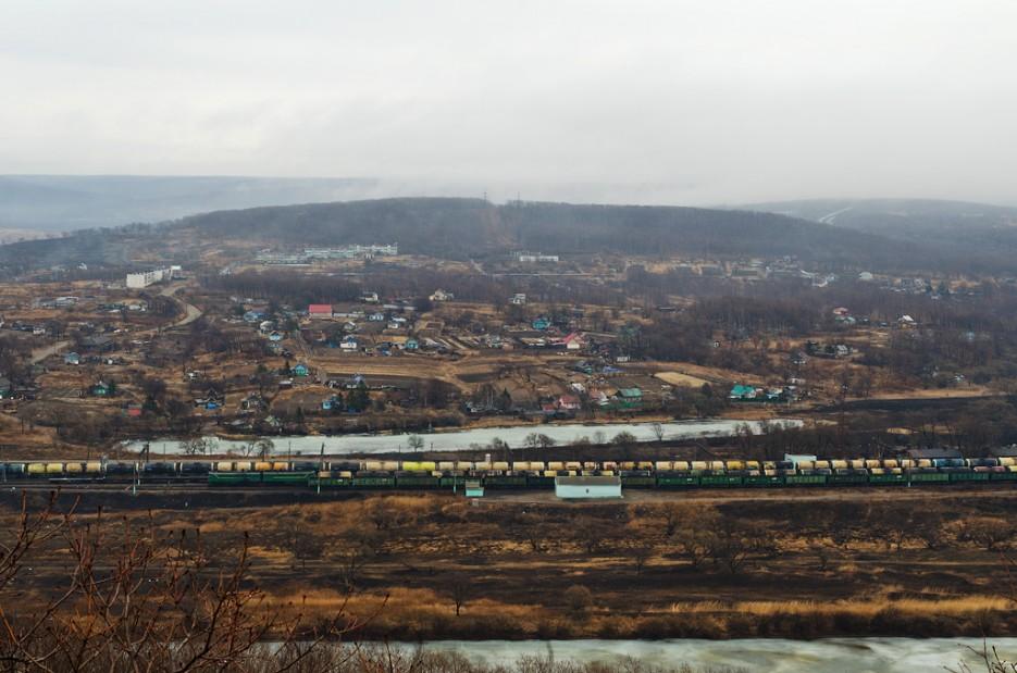 Вид на посёлок Барановский и жд станцию. | Барановский вулкан. Надежденско-Уссурийский район.