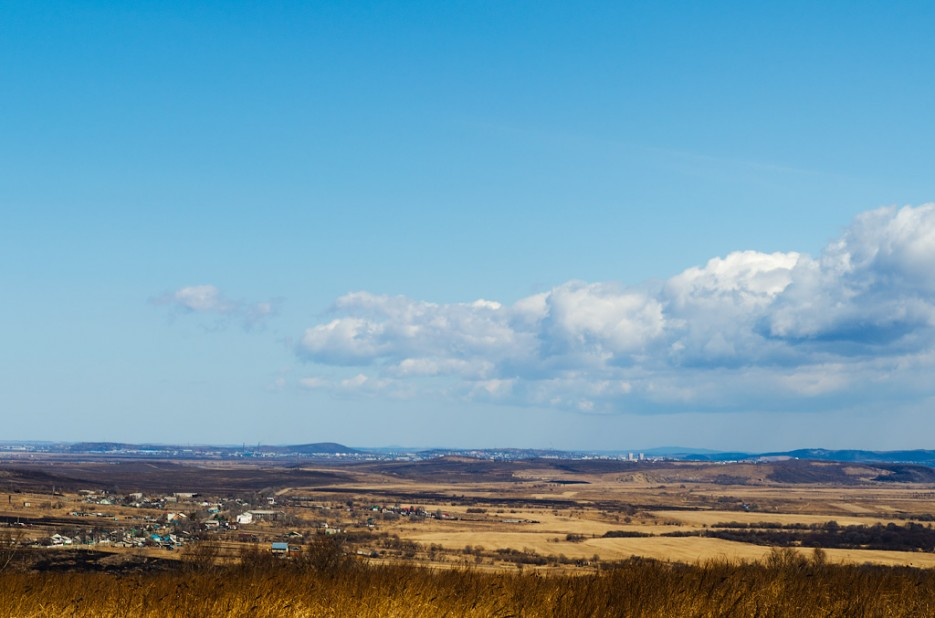 Вид на Красны Яр и Сахпосёлок. | Барановский вулкан. Надежденско-Уссурийский район.