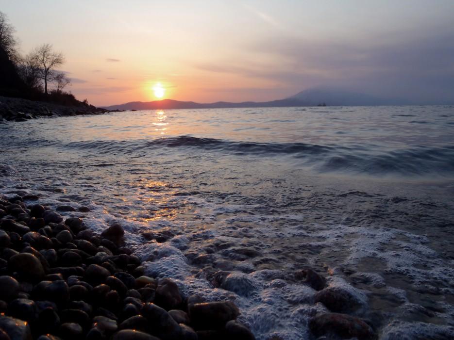 закат в б. Руднева | побережье Фокино-Руднево