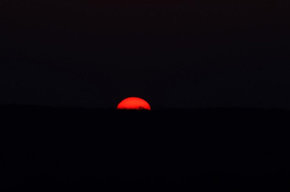 Краюшка солнца. Недалеко от Ворошиловской батареи.   Полуостров Тобизина и мыс Вятлина. Юго-восточное побережье острова Русский. Весна.