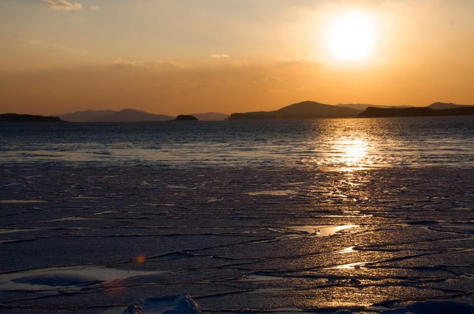 Закат. Мыс Гакель | Зимний закат на Краббе.