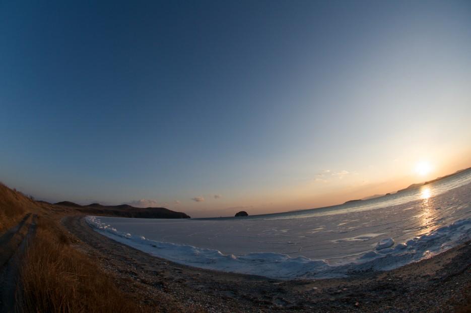 Закат. Фишай | Зимний закат на Краббе.